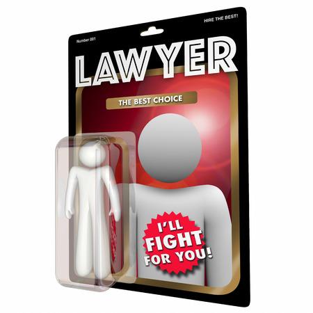 弁護士弁護士選択最高の法的支援アクション フィギュア 3 d イラスト 写真素材
