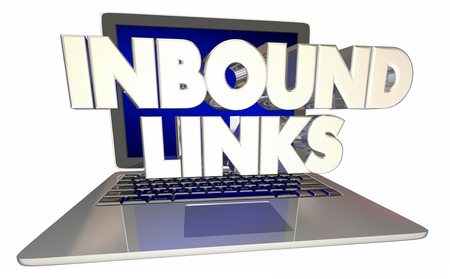 Inbound Links Computer Laptop Referral Online Website 3d Illustration