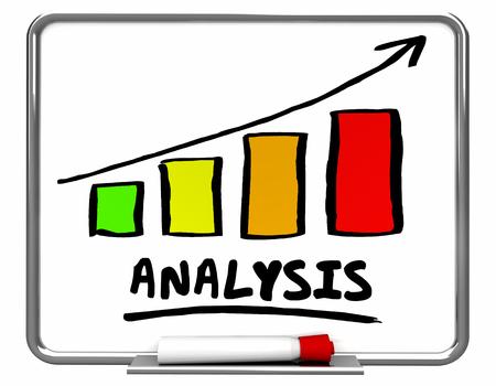 Analysis Bar Chart Arrow Rising Data Trend 3d Illustration Stock Photo