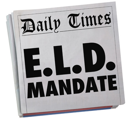 logging: ELD Electronic Logging Device Mandate Newspaper Headlines 3d Illustration