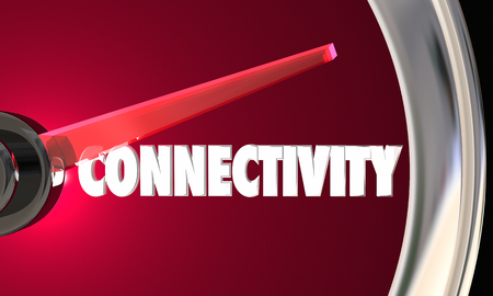 mobile communication: Connectivity Speedometer Connection Speed Mobility 3d Illustration
