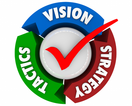Vision Strategy Tactics Planning Process Arrows 3d Illustration Stock Photo