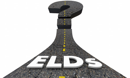 ELDs Electronic Logging Devices Road Question Mark Uncertain Future 3d Illustration