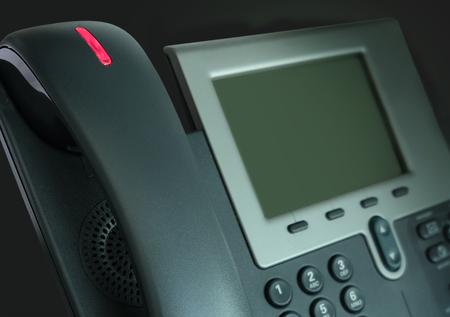 電話メッセージが点灯点滅して 3 d 図をメール 写真素材