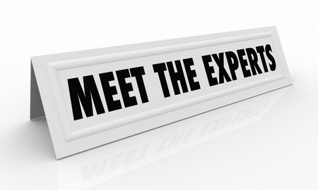 panelist: Meet the Experts Name Tent Card Professionals 3d Illustration