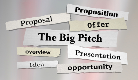 The Big Pitch Newspaper Headlines Proposal Offer 3d Illustration