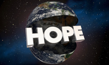 hopeful: Hope Earth Environment Future 3d Illustration - Elements of this image furnished by NASA