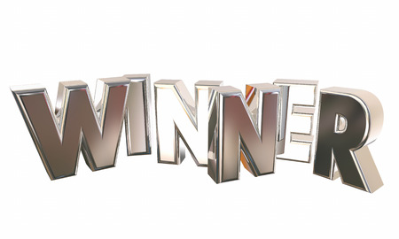 Winner Word Letters Pop Up Winning Competition 3d Illustration