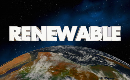 Renewable Earth Planet Energy Resources 3d Illustration - Elements of this image furnished by NASA Banco de Imagens