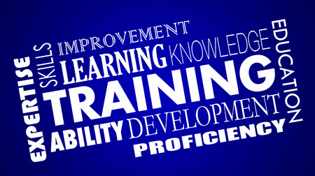 Training Development Skills Education Learning Words Collage 3d Illustration
