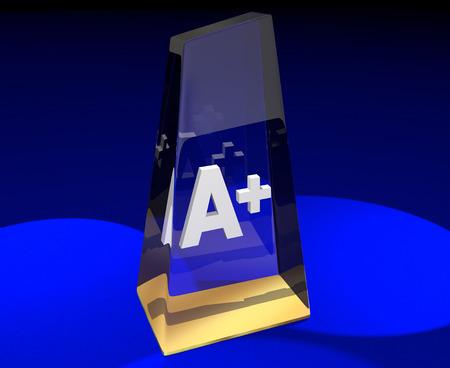 potential: A Plus Grade Top Score Award Best Result 3d Illustration