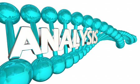 DNA Analysis Genetic Analyze Gene Code Word 3d Illustration Stock Photo