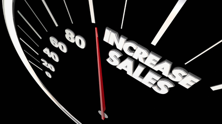 Increase Sales Measure Results Selling More Products Speedometer 3d Illustration Stock Photo