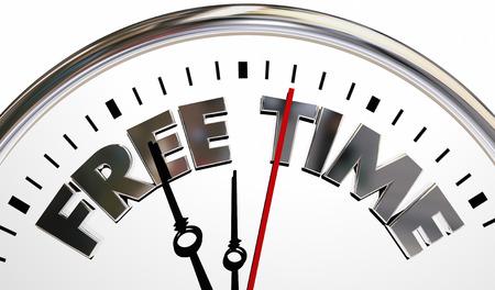 Free Time Clock Spare Break Moments 3d Illustration Archivio Fotografico