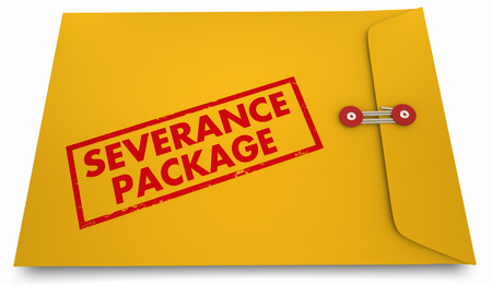 Severance Package Job Termination Benefits Envelope 3d Illustration