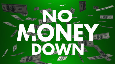paying: No Money Down Payment Cash Falling 3d Illustration