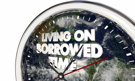 Living on Borrowed Time Earth Clock Climate Change 3d Illustration