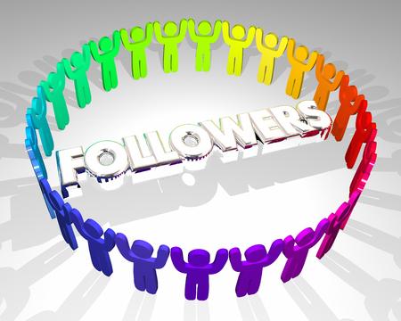 Followers People Fan Base Social Media Audience 3d Illustration Imagens