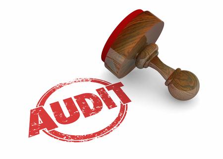 Audit Review Process Accounting Assessment Stamp Ilustración 3d Foto de archivo