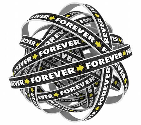 Forever Always Eternity Lasting Looping Roads Ball 3d Illustration