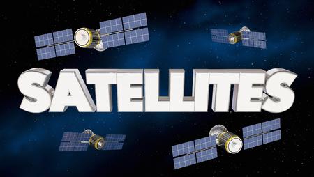 Satellites Network Signal Coverage Telecommunications 3d Illustration