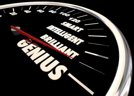 Genius Brilliant Intelligent Smart Measure Your Intelligence Level 3d Illustration