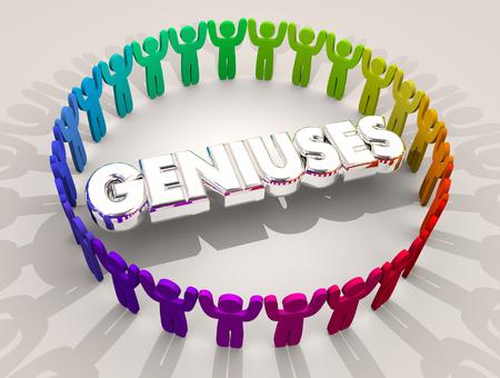 Geniuses Smart People Ring Intelligence 3d Illustration