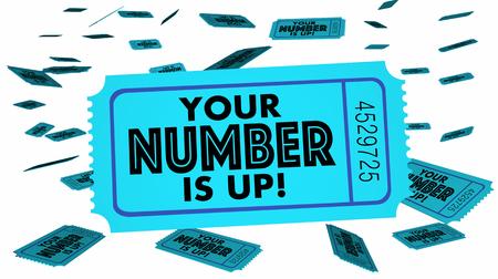 あなたの番号を獲得チケット運の選択次に 3 d 図