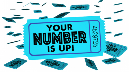 choosing: Your Number is Up Winning Ticket Luck Choice Next Turn 3d Illustration