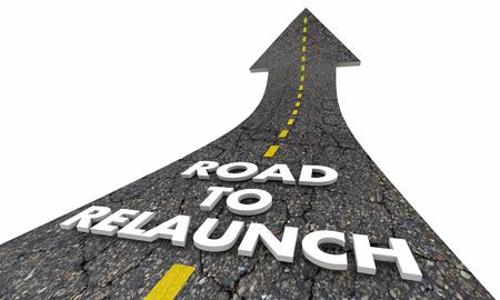 Road to Relaunch Start New Business Lanceert 3d illustratie