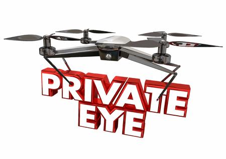 目の私立探偵無人監視カメラ 3 d イラストレーション
