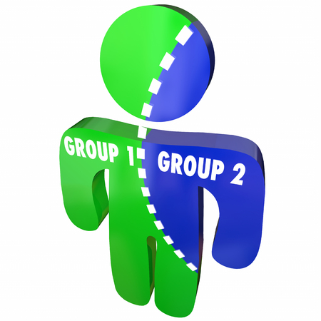 Group 1 and 2 Demographics Population Research Person 3d Illustration