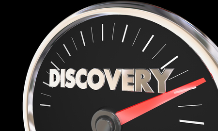Discovery Speedometer New Findings Explore 3d Illustration Stok Fotoğraf