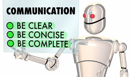 コミュニケーションクリア簡潔完全ロボット選択3d イラスト