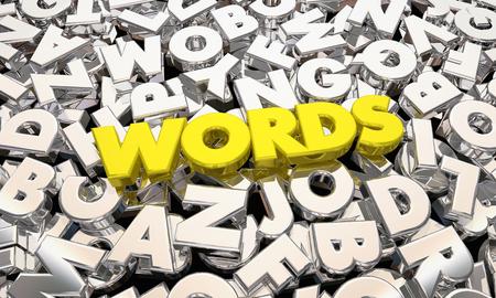 Words Communication Shiny Letters Communicate 3d Illustration Stock Photo