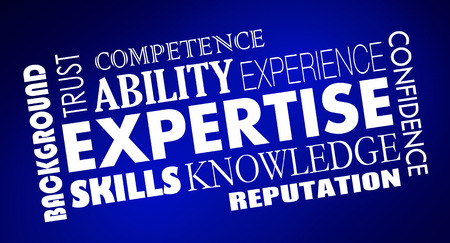 Expertise Skills Knowledge Experience Word Collage 3d Illustration