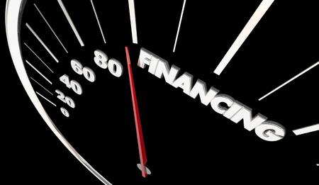 Financing Speedometer Loan Borrow Money 3d Illustration