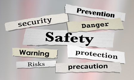 Safety News Headlines Security Risk Prevention 3d Illustration