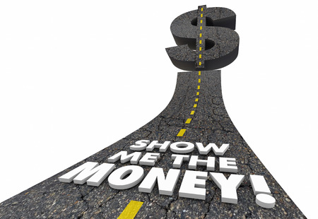 Show Me the Money Road Earning Income Cash 3d Illustration