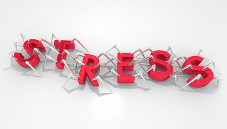 Stress Bots Insects Spiders Letters Word 3d Illustration