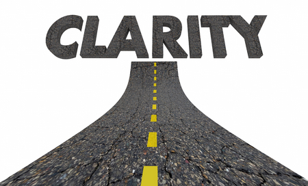 Road to Clarity Clear Communication Understanding 3d Illustration