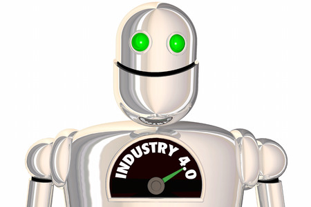 Industry 4.0 Robot AI Artificial Intelligence Manufacturing 3d Illustration