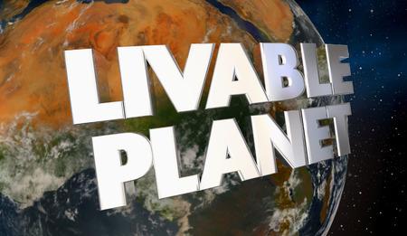 Livable Planet Environment Ecology Earth World 3d Illustration Banque d'images - 90031121