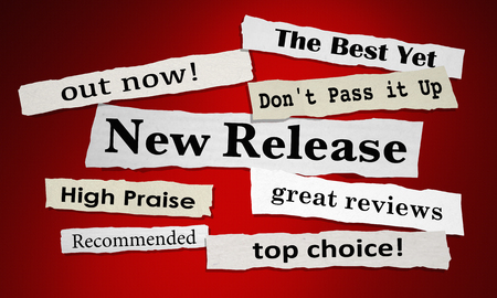 New Release Best Reviews Top Receommendation Headlines 3d Illustration Stock Photo