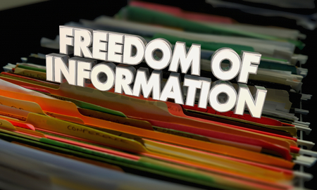 Freedom of Information Files Documents FOIA Act 3d Illustration Stok Fotoğraf