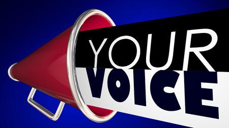 あなたの声メガホン拡声器言葉 3 d イラストレーション