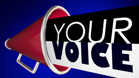 Your Voice Megaphone Bullhorn Words 3d Illustration Reklamní fotografie - 90736243