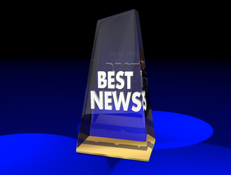 Best News Outlet Award Media Journalism Prize 3d Illustration