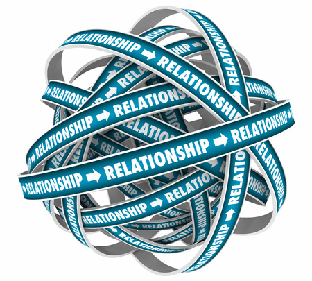 Relationship Circles Endless Cycle 3d Illustration
