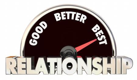 Relationship Good Better Best Speedometer 3d Illustration Stock Photo
